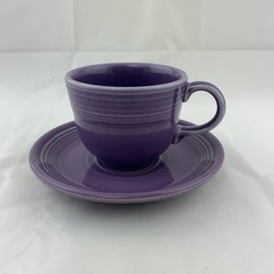 Fiesta Lilac Teacup and Saucer Retired Fiestaware